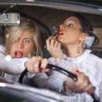 Блондинка в автомобильной в пробке или монолог блондинки